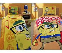 Детский комплект постельного белья Tac Sponge Bob Academics простынь на резинке