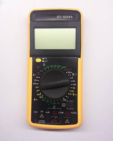 Мультиметр универсальный DT9208A, фото 2