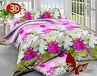 Комплект постельного белья  TM TAG розовое с белыми цветами