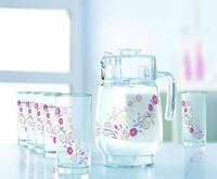 Набор/вода (кувшин 1,6л, стаканы 270мл-6шт)-7предметов, Luminarc Juliet, 170084, П/1