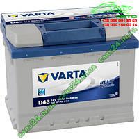 Аккумулятор Varta D43 60Ah/540A (L+ Std.)  242x175x190  B13  BLUE DYNAMIC B560127054