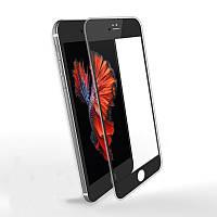 Защитное стекло iPhone 6/6S 3D карбон (черное)