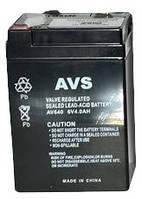 Аккумулятор Свинцово-кислотный Батарея AVS AV640 4Ah, 6V