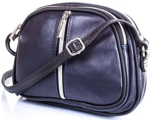 Женская кожаная сумка-клатч через плечо ETERNO (ЭТЕРНО) ETK0195 Синий