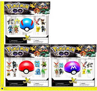 """Покемоны + покебол BT-PG-0007 """"Pokemon GO"""" 8 фигурок по 2"""", шар 7см 3в.лист ш.к./72/(BT-PG-0007)"""