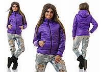 Теплая стеганая куртка с капюшоном 5 цветов