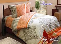 Комплект постельного белья  TM TAG Верона в абстракции оранжевый семейный