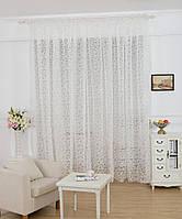Тюль портьера Нежность белый цвет