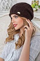 Шапка зимняя женская 6034 коричневый