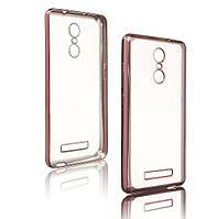 Чехол накладка силиконовый TPU Luxury Soft для Xiaomi Redmi Note 3 Pro розовый