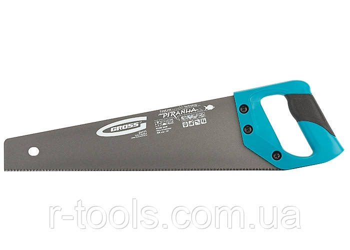"""Ножовка по дереву """"PIRANHA"""", 400 мм,11-12 TPI, зуб-3D, кал.зуб, тефл.покр.полотна,2-х комп. рук-ка GROSS 24111"""