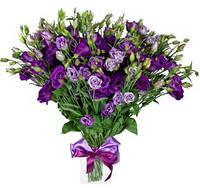 Букет из эустомы фиолетового цвета