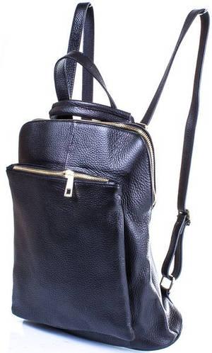 Женская кожаная сумка-рюкзак ETERNO (ЭТЕРНО) ETK002-125 Черный