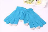 Перчатки для сенсорных экранов Touch Gloves blue
