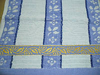 "Махровые полотенца ""Вышивка по краю"", размер 35*70 см. Качество! 213"