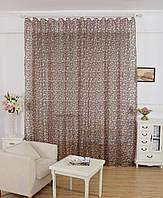 Тюль портьера Нежность коричневый цвет, фото 1