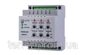 Трехфазное реле напряжения и контроля фаз РНПП-301 Новатек Электро