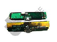 Шлейф для Lenovo S890, с разъемом зарядки, с микрофоном, с виброзвонком, плата зарядки