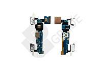 Шлейф для Samsung A700H Galaxy A7 (2015)/A700F, с разъемом зарядки, с разъемом наушников, с кнопкой меню (Home), с сенсорными кнопками, с микрофоном