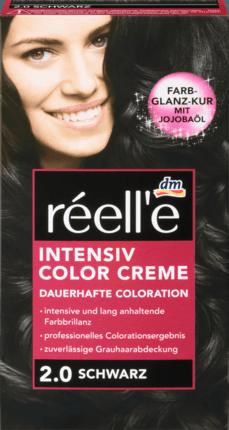 Крем - краска для волос réell'e Intensive Color Creme Schwarz, 2.0 (черный)