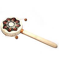 Барабан трещетка деревянный