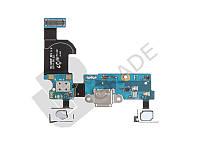 Шлейф для Samsung G800H Galaxy S5 mini, с разъемом зарядки, с кнопкой меню (Home), с сенсорными кнопками, с микрофоном
