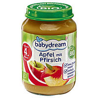 Babydream Bio Apfel mit Pfirsich - Фруктовое пюре Яблоко с персиком, с 4 месяца, 190 г
