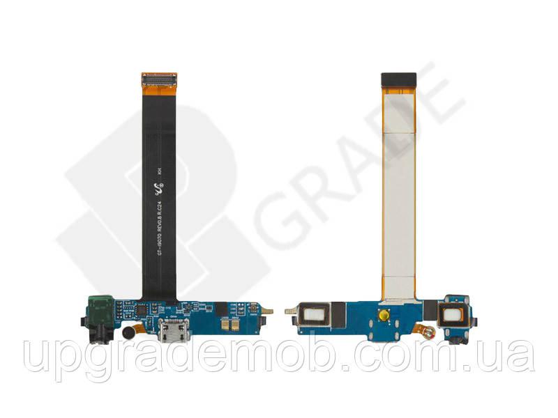 Шлейф Samsung i9070 Galaxy S Advance с разъемом зарядки с разьемом наушников с микрофоном