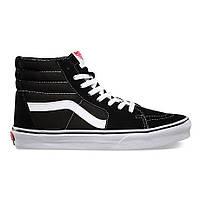 "Зимние Кеды Vans Old Skool SK8-HI ""Black White"" - ""Белые Черные"" (Копия ААА+)"