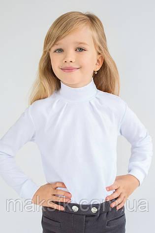 Гольф для девочки белый  р.110-128см, фото 2
