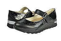 Мужские туфли повседневные из хромированной кожи mida 41020ч черные   весенние , фото 1