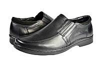 """Мужские туфли """"классические"""" из натуральной кожи mida 11178ч черные   весенние , фото 1"""