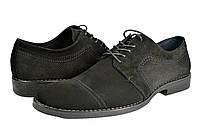 """Мужские туфли """"классические"""" из натуральной кожи levus 58.33 черные   весенние"""