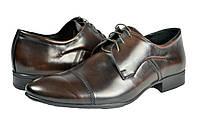 """Мужские туфли """"классические"""" из натуральной кожи levus 60.2 коричневые   весенние"""