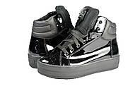 Женские ботинки осенние на флисе кожаные с замшевыми вставками mida 22118ч.лак черные   весенние