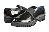 Женские туфли повседневные mida 21615ч.зол черные   весенние , фото 1