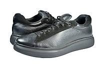 Мужские кроссовки из натуральной кожи mida 110099ч черные   весенние , фото 1