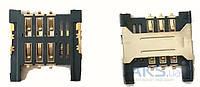 (Коннектор) Aksline Разъем SIM-карты Lenovo P700i / K860 / S560 / S890 / S6000 / A369 / A706 / S850 / A680