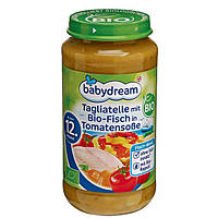 Babydream Bio Menü Nudeln mit Bio-Fisch in Tomatensauce - Лапша с Био-рыбой в томатном соусе, с 12 мес., 250 г