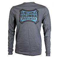 Мужская футболка Columbia CSC CLASSIC PATCH™ LONG SLEEVE SHIRT серая с принтом JO1638 053