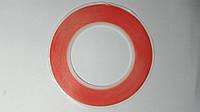 Скотч  двусторонний вспененный красный 3M, 1 см.