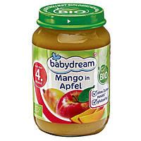 Babydream Bio Mango in Apfel - Фруктовое пюре Манго в яблоке, с 4 месяца, 190 г