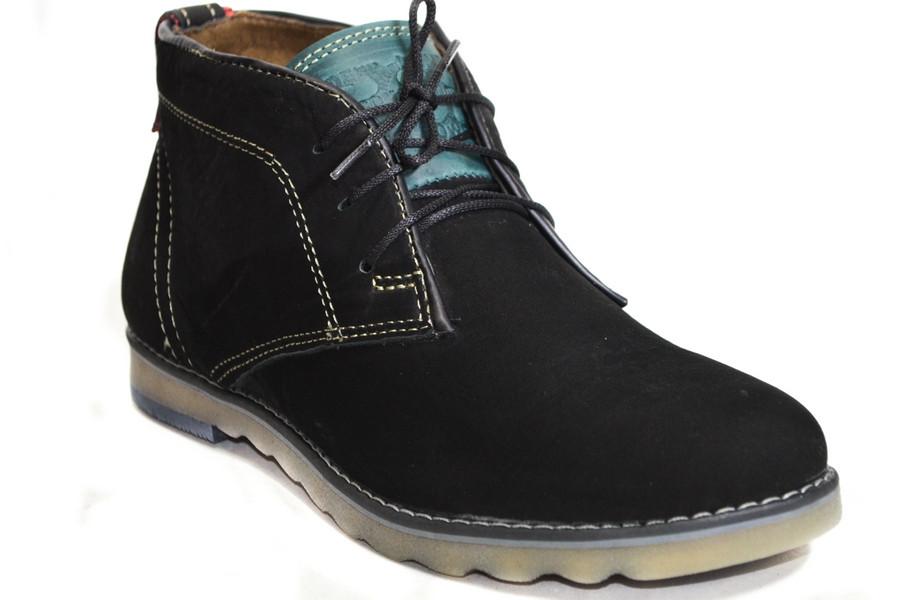 Мужские ботинки (арт.Роки (черный нуб))