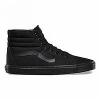 "Кеды Vans Old Skool SK8-HI ""Triple Black"" - ""Черные"" (Копия ААА+)"