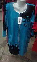 Женский домашний халат, велюр, фото 1
