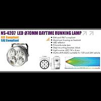 Фары доп/дневного света NS-4207 DRL 2x4W/9V-33V/D=70mm