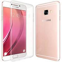 Силиконовый чехол 0,33 мм для Samsung Galaxy C7 прозрачный