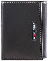 Портмоне Tommy Hilfiger Оригинал из кожи на 3 разворота в фирменной упаковке кожаный кошелек Томми Хилфигер