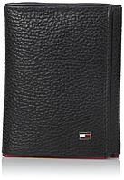 Кожаное портмоне Tommy Hilfiger Оригинал на 3 разворота в фирменной упаковке кожаный кошелек Томми Хилфигер