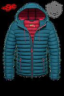 Бирюзовая куртка мужская осень-зима -3